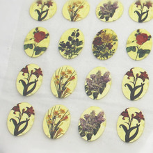 15Pcs Vintage Flower Offset Press Iron-on Patches for Clothing Offset PET Transfer DIY Scrapbooking Materials Patches 1.7x2.5cm(China)