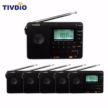 6PCS TIVDIO V-115 FM/AM/SW Radio World Band Receiver MP3 Player REC Recorder With Sleep Timer/Automatic Search/Store FM Radio(China)