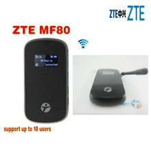 unlocked ZTE MF80 3g mifi router 42mbps 3g mobile hotspot wifi 3g router plus antenna(China)