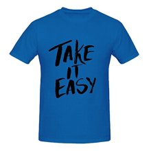 OKOUFEN Take it Easy Motivational Quote Vintage T Shirts For Men O Neck Slim Fit(China)