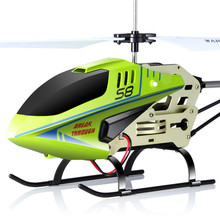 SYMA Gyro Remote Control Toys Mini Drone LED Flashing Aluminum Anti Shatter Aircraft S8 3CH RC Helicopter(China)