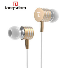 3.5Mm Metal Earphones Stereo Bass In-Ear Earphone Headphone Headsets With Mic Vol +/- For Iphone 5 5S 6 Samsung Mp3 Player