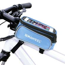 Bicycle Double Frame Touch Screen Phone Bag for iPhone 7 plus 6s plus 5.5inch phone Cycling Front Tube Frame Bag Cellphone Pouch