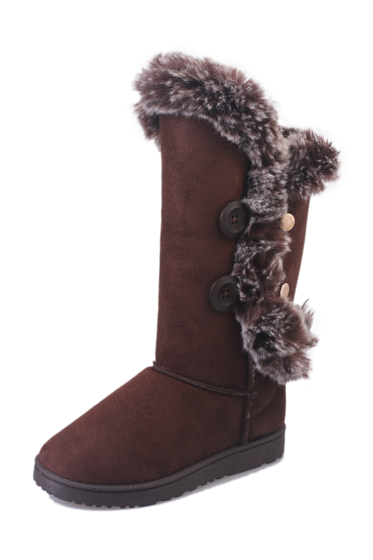 Women Warm Winter Boots 2017 Nubuck Leather  Snow Boot Woman Mid-calf Boots Fur Inside Flat Ladies Solid Snow Boots 308-26<br><br>Aliexpress