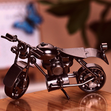 Hand made Metal parts Model Retro Classic Motorcycles Craft Desktop Display quality art work Home Decoration kid toy gift