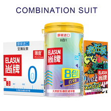 Buy ELASUN 33 pcs 10 Types Ultra Thin Condoms Ice Fire Dotted Pleasure Natural Latex Rubber Condoms men.