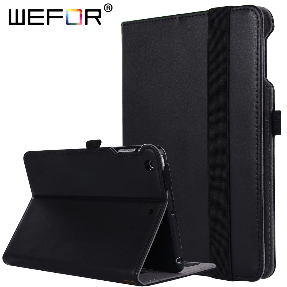 Case For iPad Mini 1/2/3 - [Genuine Leather] Multi-Angle Viewing Folio Stand Cover w/ Pocket, Auto Wake / Sleep for iPad Mini<br>