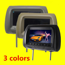 1PCs Universal 7 inch Car headrest monitor display LCD color monitor display Car Pillow monitor car styling Quality Asssured(China)