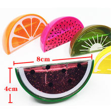 1pcs Half Fruit Model Slime Clay Blowing Bubble Crystal Mud Clay fashion Kid Toy Environmental Non-toxic Colorful Funny Toy Gift