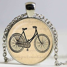 Vintage Bicycle pendant. Bicycle Necklace. Bicycle jewelry. Birthday gift,christmas gift,sliver plated(China)