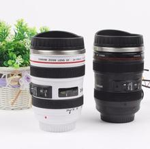 Promotion! High Quality Stainless Steel Canon Camera Lens II Coffee Mug Cup Travel Mug Multi Purpose Creative Gift With Lid
