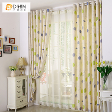 DIHIN Home 1 PC Endless Pattern Window Curtains Modern Curtains for Living Room the Bedroom Kitchen Window Drapes Blinds