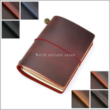 Moterm Genuine leather notebook handmade passport traveler notebook cowhide vintage style journal spiral diary free shipping