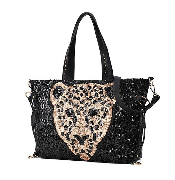 ZriEy Fashion Woman Bags Leopard Crossbody Bags Big Bags Bling Bolsa Feminina Shoulder &amp; Crossbody Bags<br>