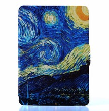 for kindle touch 7th generation cases 2014 folio cover case for kindle 7th gen ereader  Van gogh starry night+screen film+stylus