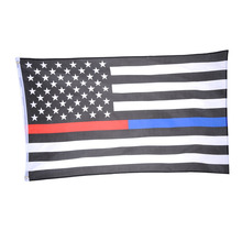 Thin Blue Red Line Flag 3X5FT 150X90CM USA Law Enforcement Flag with Brass Metal holes Home Decoration  1pcs Freeshipping 2016