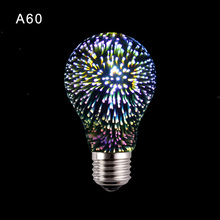 Fireworks 3d illusion lamp Innovative Edison Bulb LED Holiday Decor Light E27 Multi-colored Bombillas Dream Nightlight lambas