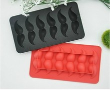 Lohath . Originality Funny moustache modeling ice cube tray Ice mold ice box Silica gel Ice maker