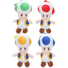 18cm Super Mario Mushrooms Toad Plush Toys Stuffed Animals Kids Gift Dolls 4color