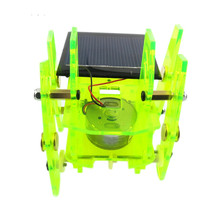 Solar Robots Funny DIY Puzzle Toys Educational Toys 7.5*7.5*7.5cm DIY Handmade Toy Kit