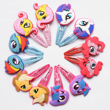 2pcs/set Children Hair Accessories My little Ponys Hair Clip Cartoon Kids Hairpins Cute Hair Ornaments Flower Crown