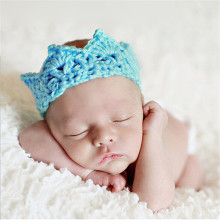 Yuki New Baby Infant Headband Crown Knitting Crochet Costume Soft Adorable Clothes Newborns Photography Props Baby Photo Hat Cap