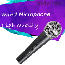 New Label !! High Quality SM 58 58S Wired Dynamic Cardioid Professional Microphone Vocal Karaoke Handheld Mic with Switch ON/OFF