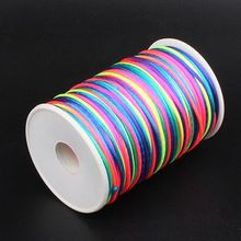 100m/roll 2mm rose Factory Price Polyester thread Cord Lace Jewelry Findings Beading Thread D1(China)