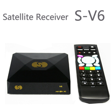 1PC Free Shipping Original S V6 S-V6 Satellite Receiver/ TV Box Support 2 USB WEB TV Card Sharing CCCAM/NEWCAM Youporn(China)