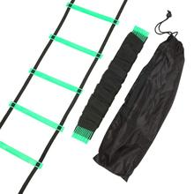Durable 12 Rung 6M Football Training Speed Agility Ladder Black Straps Training Ladder Step Soccer Accessories(China)