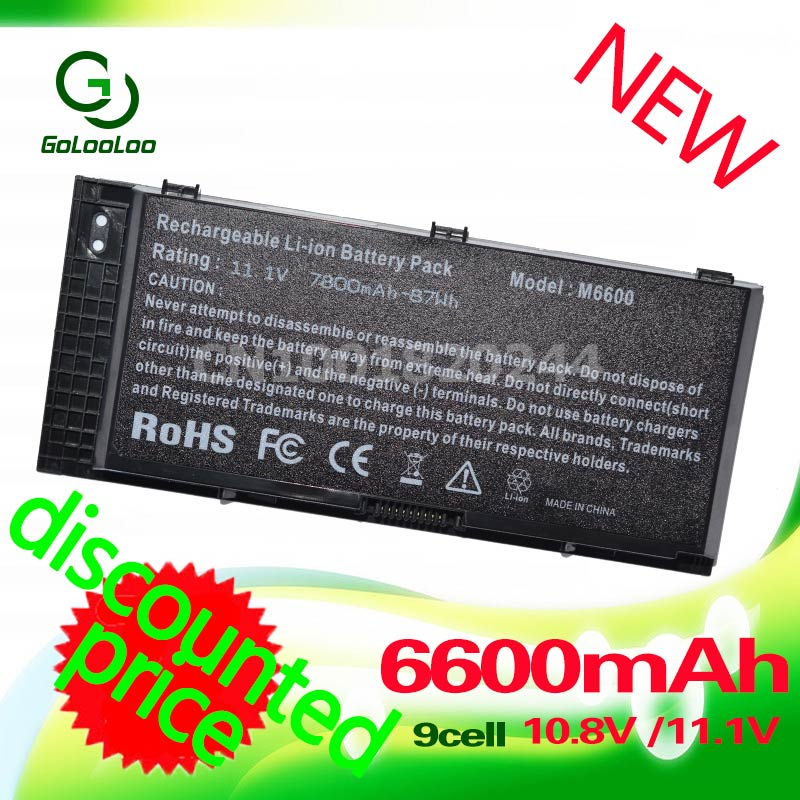 Golooloo 9 Cells Laptop Battery For DELL Precision M6600 M6700 M4600 M6800 M4800 M4700 FJJ4W FV993<br>