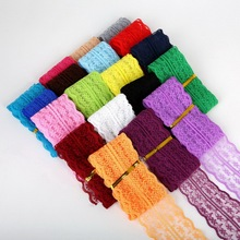 New Lace Ribbon Decorative Lace Trim Fabric Wedding Craft DIY Sewing & Skirt Accessories Random mix color 12yards (1y per color)(China)
