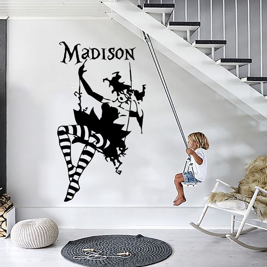 Alice In Wonderland Wall Decals Stickers Name Decal Vinyl For Girl  Nursery(China) Part 45