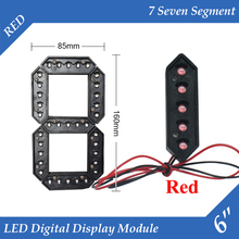 "10pcs/lot 6"" Red Color Outdoor 7 Seven Segment LED Digital Number Module for Gas Price LED Display module(China)"