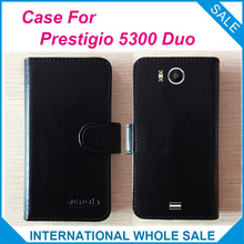 In stock Hot! Prestigio 5300 Duo Case 6 Colors High Quality Leather Exclusive Cover For Prestigio MultiPhone 5300 DuoTracking(China)