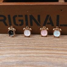 MRHUANG Oil Drop Charms 10pcs/lot Cute Clock  Enamel Charms Alloy Pendant fit necklaces bracelets DIY Jewelry Accessories