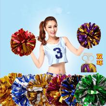 Rose All Star first single paragraph cheerleading pom pon Cheerleading cheer supplies 25 COLORS 50 gram/ pcs(China)