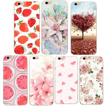 For iPhone5S SE Flower Silicon Phone Shell Cover For Apple iPhone 5 5S SE 6 6S 7 Slim Soft TPU Case Cases Cute Styles