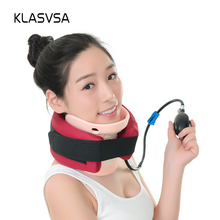 KLASVSA Cervical Neck Traction Neck Collar Vertebra Traction With Cervical Care Air Cushion Tight Muscles Pillow Massager(China)