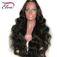 Elva Hair Full Lace Human Hair Wigs For Black Women Body Wave Wigs Pre Plucked Hairline 10-26inches Brazilian Remy Hair Wigs(China)