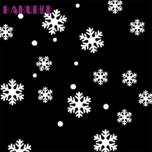 Kakuder Wall Window Stickers Snowflake Christmas Xmas Vinyl Art Decoration Decals 2017 Gift 1pcs Drop