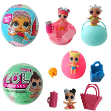 New LOL LQL Surprise Doll Fantastic Removable Egg Ball Toy Educational Kids Unpacking Toy Best Christmas Gifts Style Random