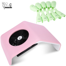 EU/UK/US Plug MINI Convenient 30W 220V / 110V Electric Suction Nail Dust Collector Machine+10pcs Nail Wrap Cleaner Clip Cap Tool(China)