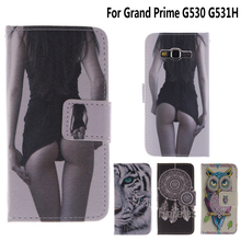 G530 Flip Case for coque Samsung Gran Prime Case Cover for fundas Samsung Galaxy Grand Prime G530 G531H Cover + Card Holder(China)