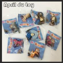 8pcs/set 100% different Gift Masha and Bear Action Figure toy.Hard Rubber 4-7cm Top quality Russian Masha The Bear Misha