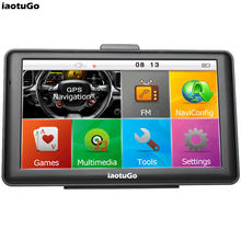 "Original iaotuGo 7"" Capacitive GPS Navigator Car Navigation Truck 256M 8G Bluetooth AVIN FM Game Music Newest Maps Free Updated(China)"