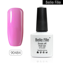 BELLE FELLE 10ml Nail Gel Polish 3D Shining Hard LED UV Clear Color DIY acrylic Nail Art Bling manicure fingernail Gel Polish