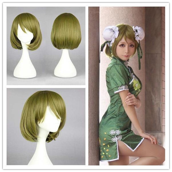 MCOSER Love Live! School Idol Project Hanayo Koizumi 35cm Short Bob Dark Green Fashion Cosplay Anime Wig<br><br>Aliexpress