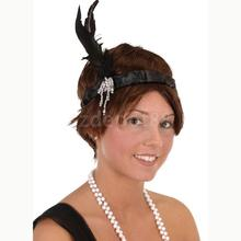 Retro 1920s Charleston Flapper Feather Headband Dress Up Party Gatsby Ball