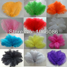 "EMS Free Shipping! 200pcs/lot 35-40cm 14-16"" Top quality ostrich feathers ostrich drab feather plumes"